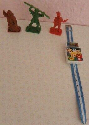 Vintage Kellogs Cereal toys Rice Krispies watch Friar Tuck Little John Allan Ada