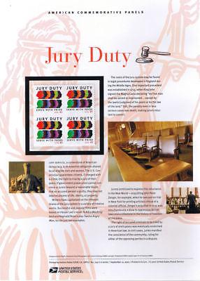 799 41C Jury Duty  4200 Usps Commemorative Stamp Panel