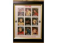 Star trek 9 stamps - framed