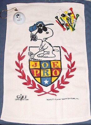Snoopy Peanuts JOE PRO golf towel, ball, tee - NO BOX!