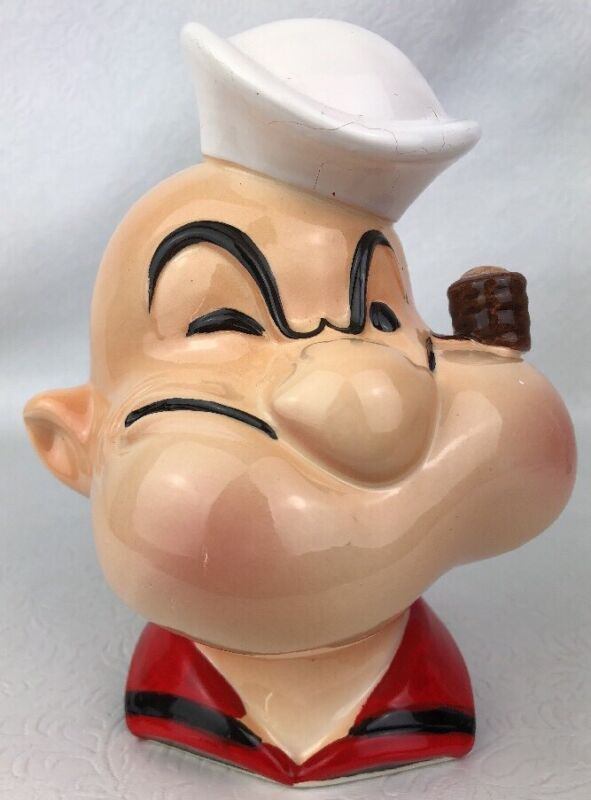 Vintage POPEYE THE SAILOR MAN HEAD BANK 1980 Vandor Imports