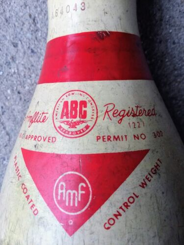 AMF AMFLITE  Bowling Pin registered 1227 permit no. 302 1960