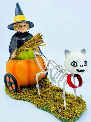 Bethany Lowe Designs: Halloween; Skelly's Pumpkin Carriage Ride; TD9077