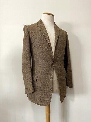 1950s Mens Suits & Sport Coats | 50s Suits & Blazers Vintage 1950's Men's Brown Tweed Three-Button Suit Jacket Retro Rockabilly  $35.00 AT vintagedancer.com