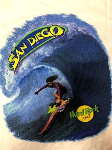 Hard Rock Cafe San Diego Surfing Guitar T Shirt Vintage USA Made Adult Large