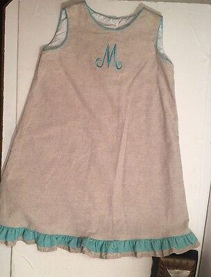Three Little Monkeys Sz 6X Monogrammed M Dress ()