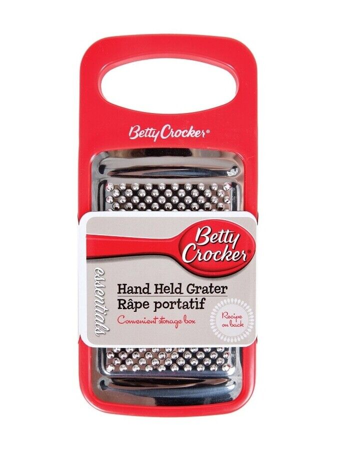 Betty Crocker Hand Held Grater with Convenient Storage Box