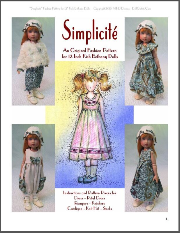 """""""Simplicité"""" Fashion Pattern for 12 Inch Kish Bethany"""