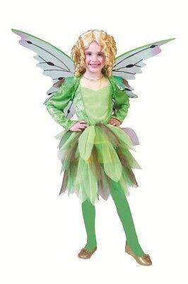 Elfe Kinder Mädchen Märchen Kleid Fee Grün Gr. 98 %SALE% (Elf Kostüme Kinder)