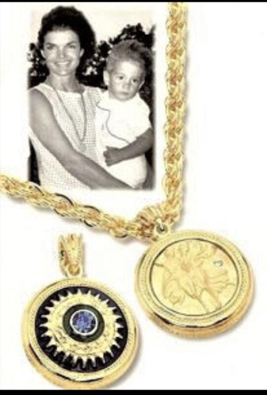 Jacqueline Kennedy Reversible Medallion Pendant with Chain- JBK -Camrose & Kross