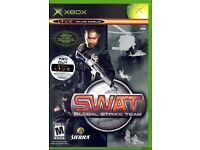 4 Microsoft Xbox Games Splinter Cell,SWAT:Global Strike,Halo 2,Without Warning