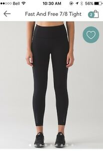 BNWT Lululemon Fast and Free Tight Size 6