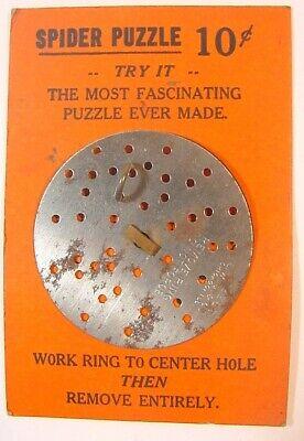 Vintage Toy Spider Puzzle-LWG Chicago-On Original Card