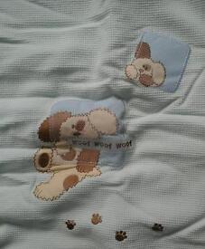 Cot blanket and bumper - dog design