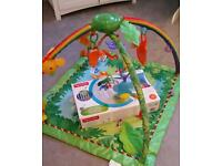 Fisher Price Rainforest play mat and musical mobile.