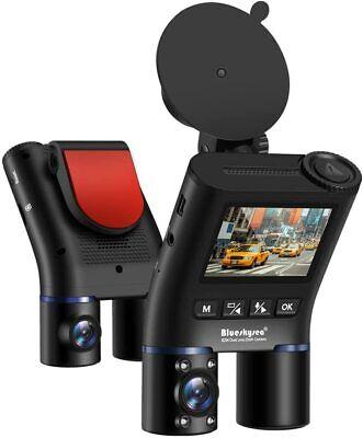 Blueskysea Sony Sensor Dual Lens Car DVR Dash Cam FHD 1080P Rear Camera Uber