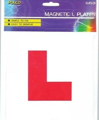 2 X L Plate Learning Plates Magnetic Car Plates Exterior New Secure & Safe