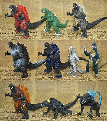Godzilla Monster 10pc PVC Action Figure Toys Doll Decor Kids Xmas Gift Dinosaur