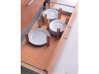 RRP £180. 1000 PAN DRAWER OAK DIVIDER TOP END, 12 PEGS SHOWROOM EX DISPLAY