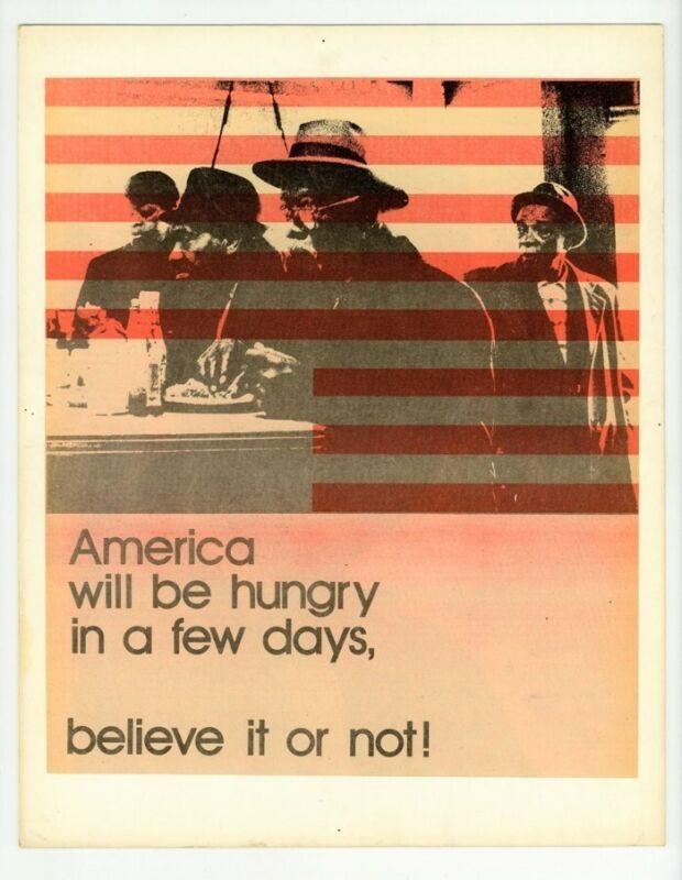 Black Civil Rights Original 1970 Poster End Black Oppression Upside Down Flag