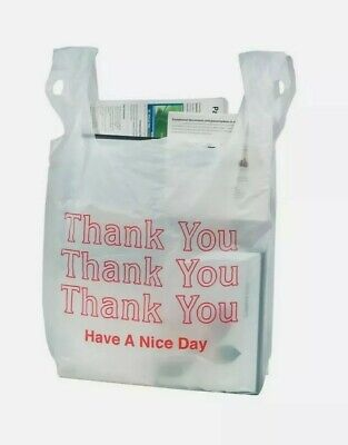 Plastic Bags Huge Lot 900 Thank You Food Carryout Curbside Pickup Shopping
