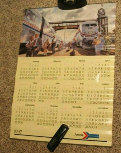 "AMTRAK 1997 Wall Calendar 24"" X 35"""