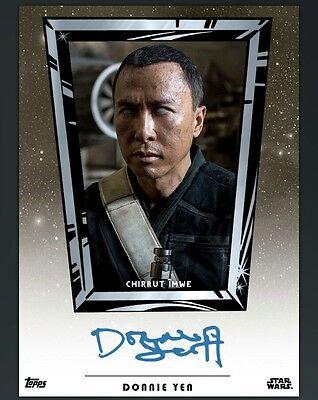 DIGITAL CARD Topps Star Wars Card Trader Donnie Yen Auto DIGITAL CARD