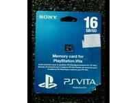 PS Vita 16gb memory card, unused