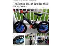 """14"""" transformers bike"""