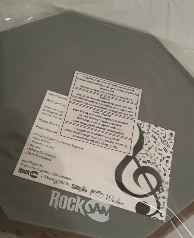 """Rockjam 12"""" Rubber Practice Drum Pad Training Quiet Drumpad 12 inch"""
