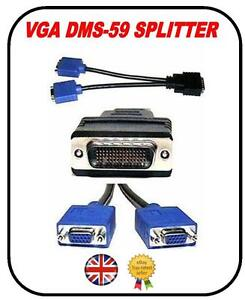BRAND NEW DMS-59 TO DUAL VGA SPLITTER CABLE TFT PC