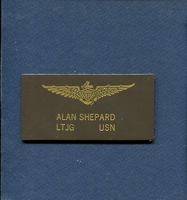 Astronaut ALAN SHEPARD US Navy Naval Aviator Test Pilot Squadron Name Tag Patch