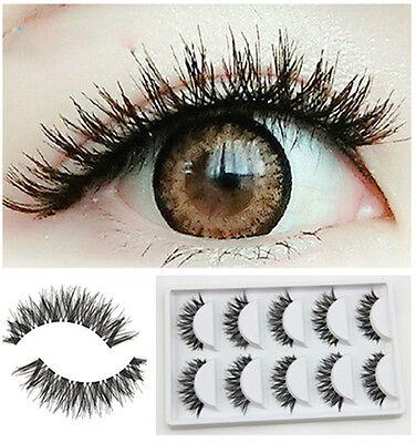 5 Pairs Lot Black Cross False Eyelash Soft Long Makeup Eye Lash Extension Cheap](Cheap Eyelashes)