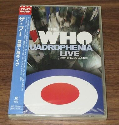 Sealed PROMO! The Who JAPAN Quadrophenia Live DVD PETE TOWNSHEND more listed