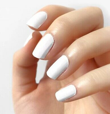 """INCOCO Nail Polish Strips, """"Fresh Start"""" Immaculate White 16 Double-Ended Strips"""