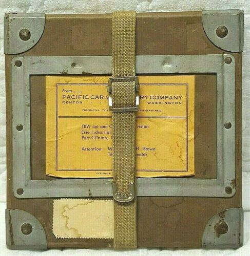 Film Reel Shipping Box Goldberg Bros TRW Jet Vintage