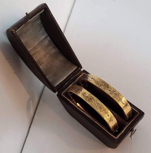 2 GOLD WEDDING BANGLE BRACELETS Taille d
