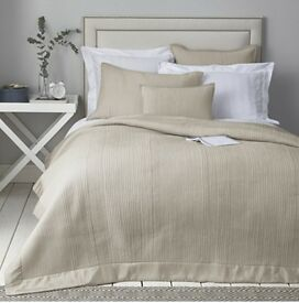 THE WHITE COMPANY QUILT / BEDSPREAD / THROW Milford Collection - Silver Grey NEW WITH TAGS £225