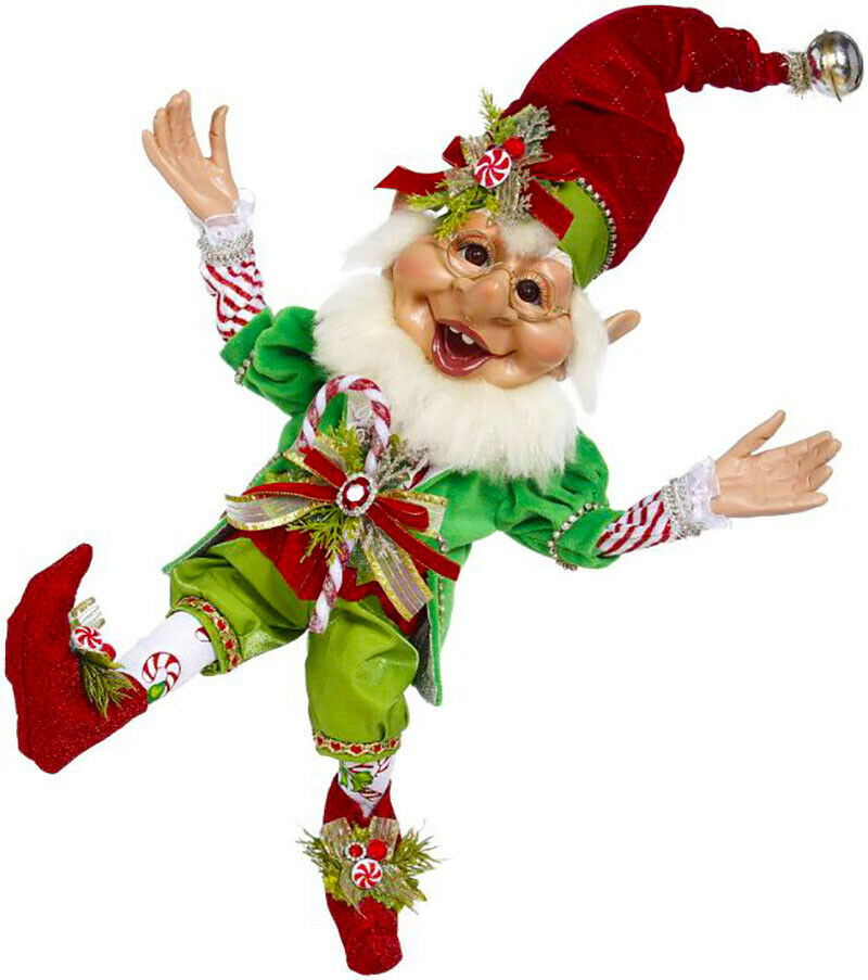 "[Mark Roberts Elves - Candycane Elf 51-05550 Medium 17.5"" Figurine </Title]"
