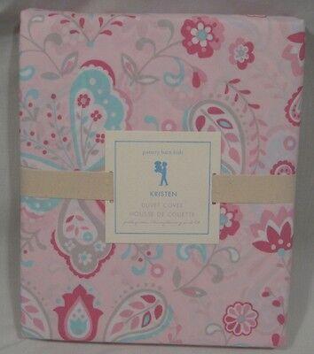 Pottery Barn Kids Pink Kristin Kristen Full Queen Duvet Cover 2 Standard Shams