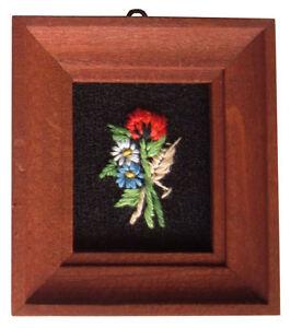 Quadro in miniatura con ricamo anni 80 per arredamento for Arredamento in miniatura