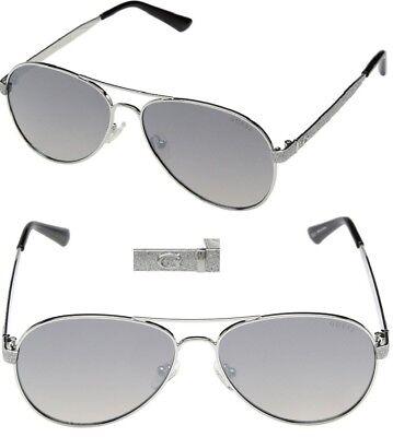 21409c800e New GUESS GU7501 Silver Silver Mirror Womens Sunglasses  75.00