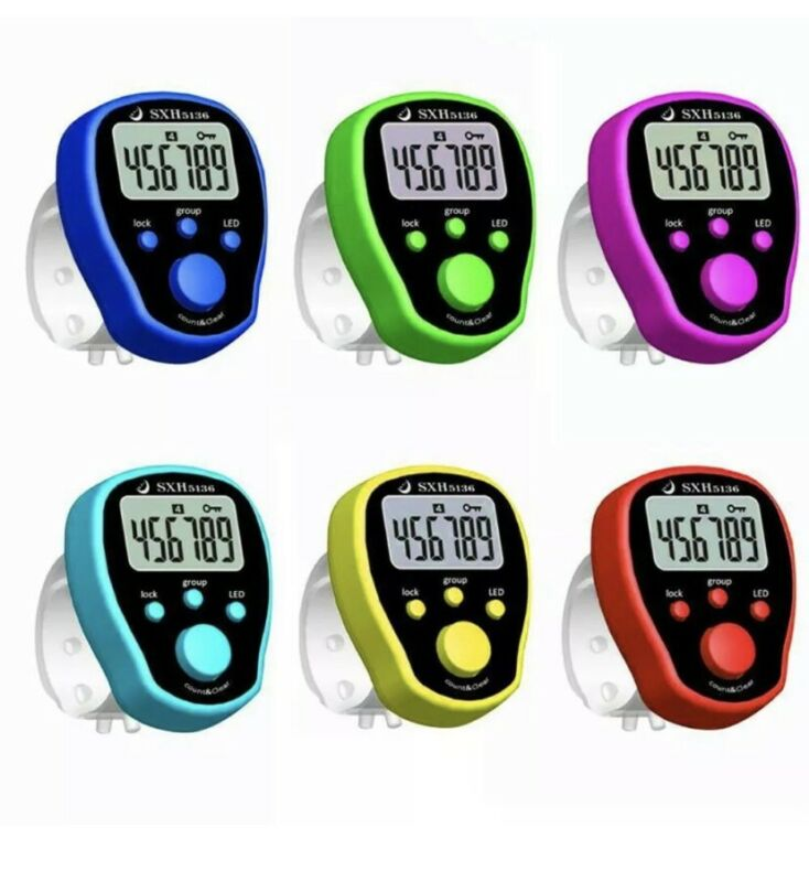 DIGITAL LCD ELECTRONIC FINGER RING HAND TALLY COUNTER TASBEE TASBIH ROW COUNTER