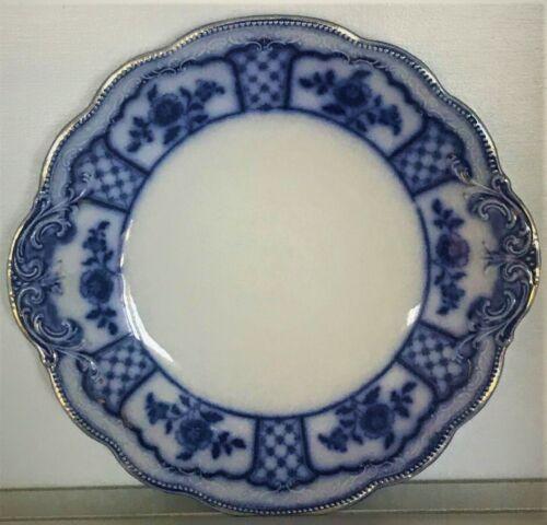 1891-1914 Vintage English Bone China W H Grindley Flow Blue Cake Plate/Melbourne