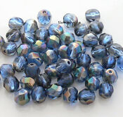 6mm Faceted Czech Glass Beads