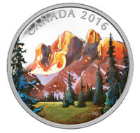 2016 $20 FINE SILVER CANADIAN COIN, THE ROCKIES, SOLD OUT!