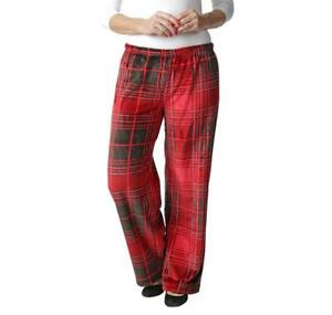DREAM HAVEN COMFY MICROPLUSH PANTS BLACK/RED PLAID