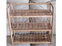 """'CANE' SHELF UNIT, 3 Shelves, 16"""" x 15"""" x 6"""" wide, designed for lightweight items only, in g.c."""