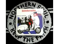 Brand new Lambretta coasters, in sets of 4, Mods Scooter Boys