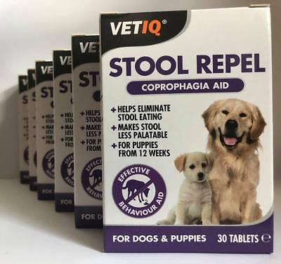 VetIQ Stool Repel Dogs 30s Coprophagia Stops Poo Eating Puppies SAMEDAY DISPATCH